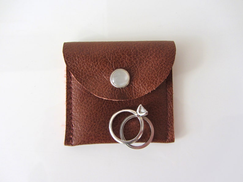 Travel Jewelry Pouch His and Hers Ring Pouch Engagement Ring image 0