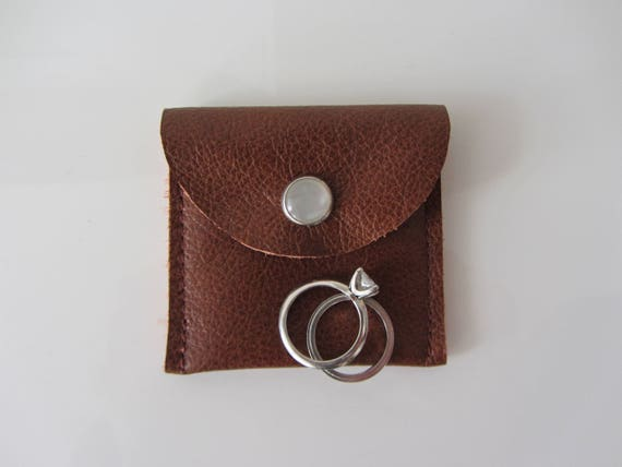 overnight jewellery case tiny leather envelope gift pouch wedding ring case