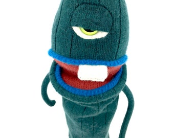 Bernie the monster puppet ugly doll plush monster hand puppet cyclops