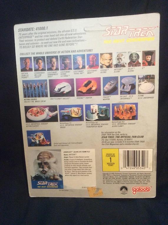 MOC Unpunched RIKER Star Trek:Next Generation 1988 Galoob Action Figure