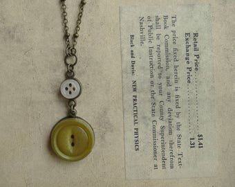 Vintage Button Necklace - Ray of Sunshine