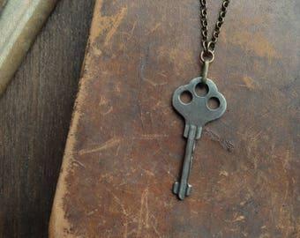 Antique Skeleton Key Necklace - Significance No. 068
