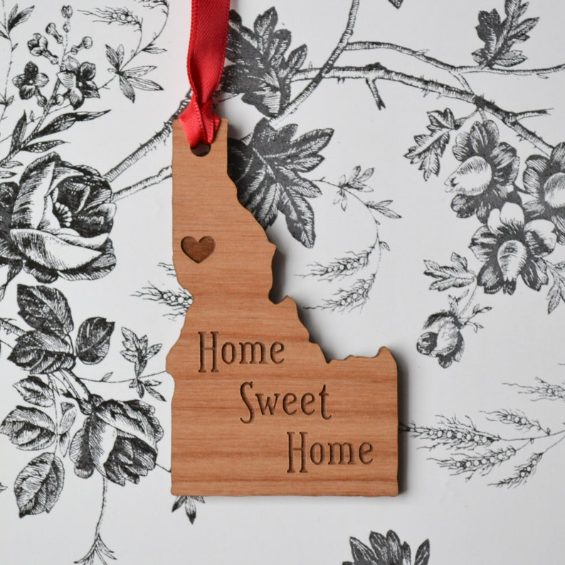 Home Sweet Home Engraved Moscow Idaho Ornament