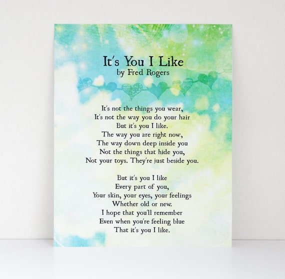 It S You I Like Quote By Fred Rogers Canvas Textured Etsy
