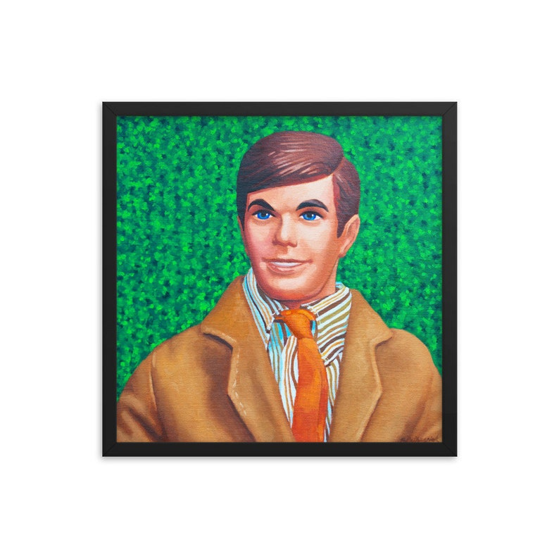 Vintage Ken Doll Barbie Framed Art Print from oil painting  image 0