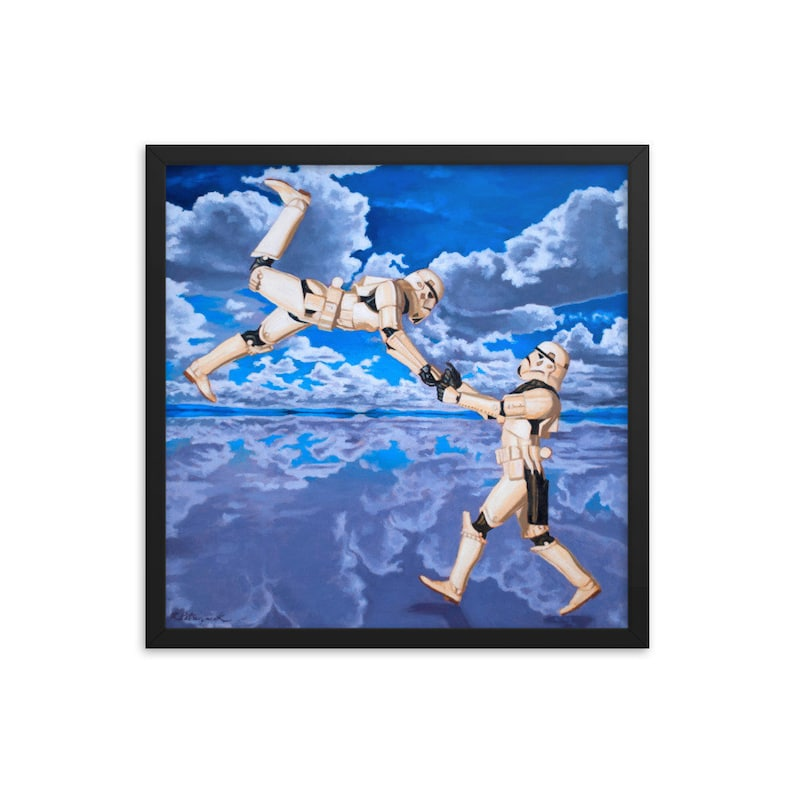 Stormtrooper Dance Framed Art Print from oil painting  Ready image 0