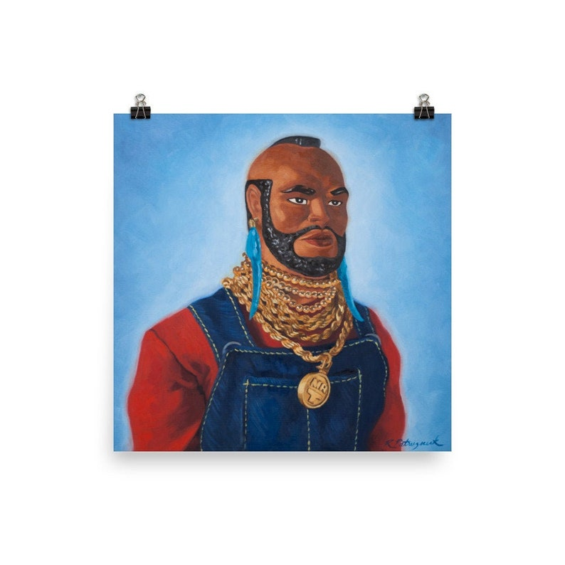Mr T Action Figure Doll Art Print from oil painting  Clubber image 0