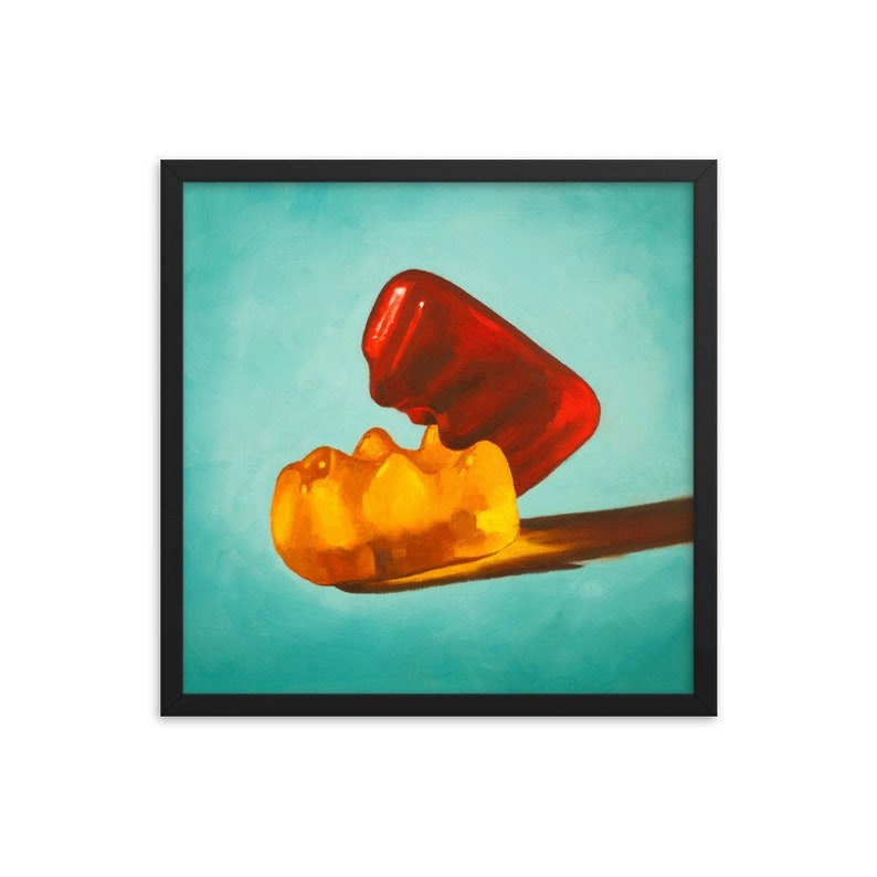 Gummy Bear Erotic Framed Art Print from oil painting  ready image 0