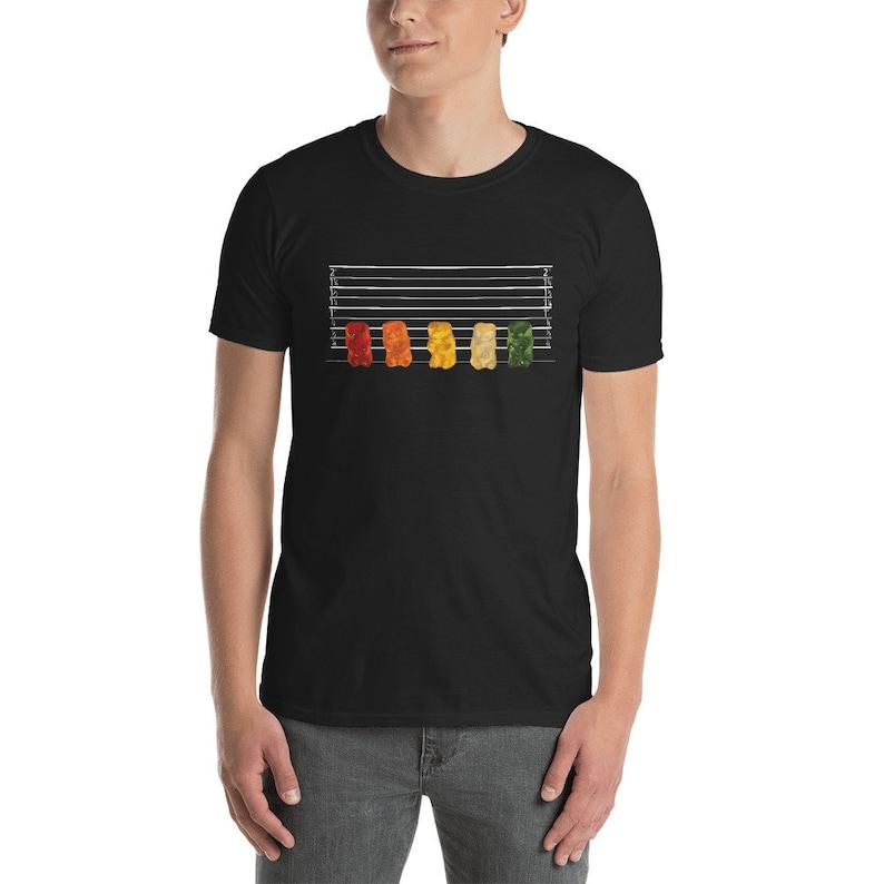 Gummy Bear Line Up Short-Sleeve Unisex T-Shirt from original image 0
