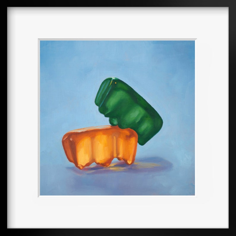 Gummy Bear Kinky Art Print from oil painting  sex positive image 0