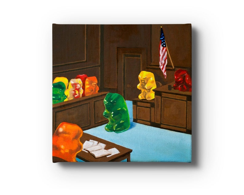Gummy Bear Law And Order Stretched Canvas Prints From Oil image 0