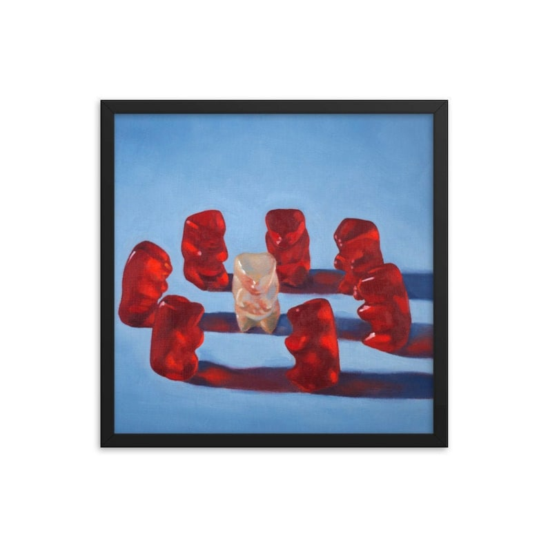 Gummy Bear Weird Framed Art Print from oil painting  ready to image 0