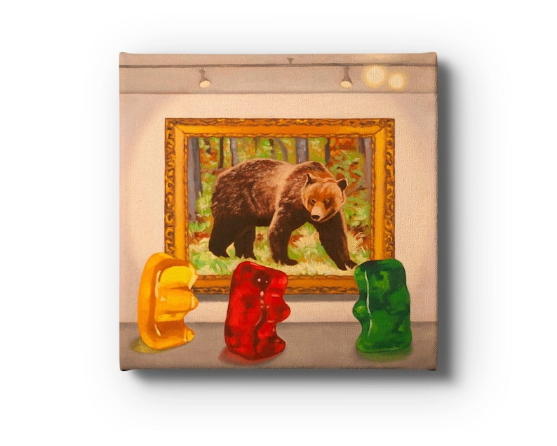 Gummy Bear Museum Stretched Canvas Print Wrap From Oil image 0