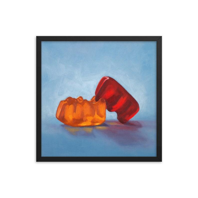 Gummy Bear Date Night Art Print from oil painting  Kinky bear image 0