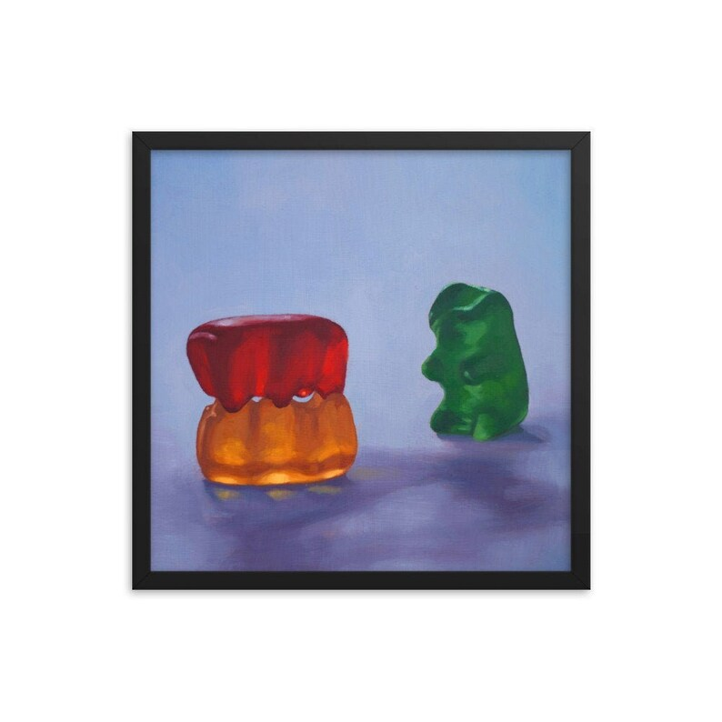 Gummy Bear Voyeur Framed Art Print from oil painting  ready image 0