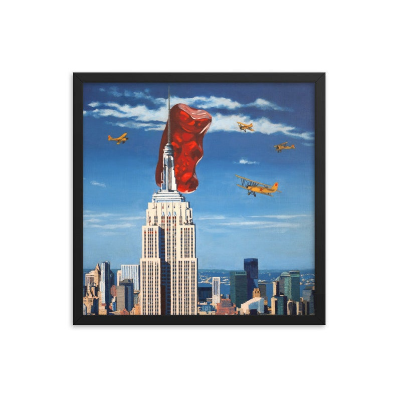 Gummy Bear King Kong Framed Art Print from oil painting  image 0