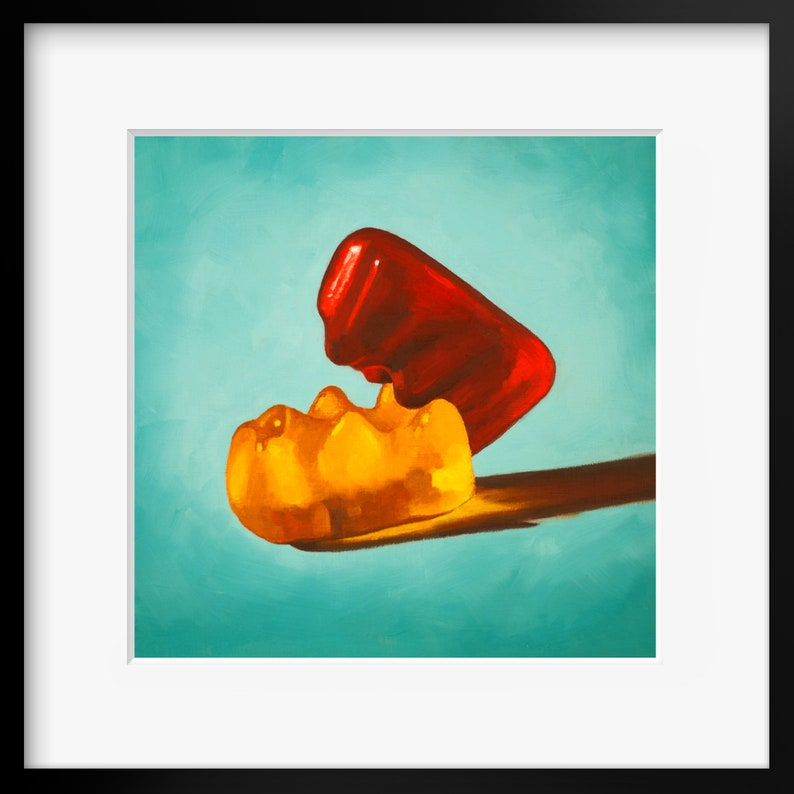 Gummy Bear Erotic Art Print from oil painting  sex positive image 0