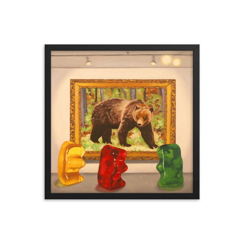 Gummy Bear Museum Framed Art Print from oil painting  ready image 0