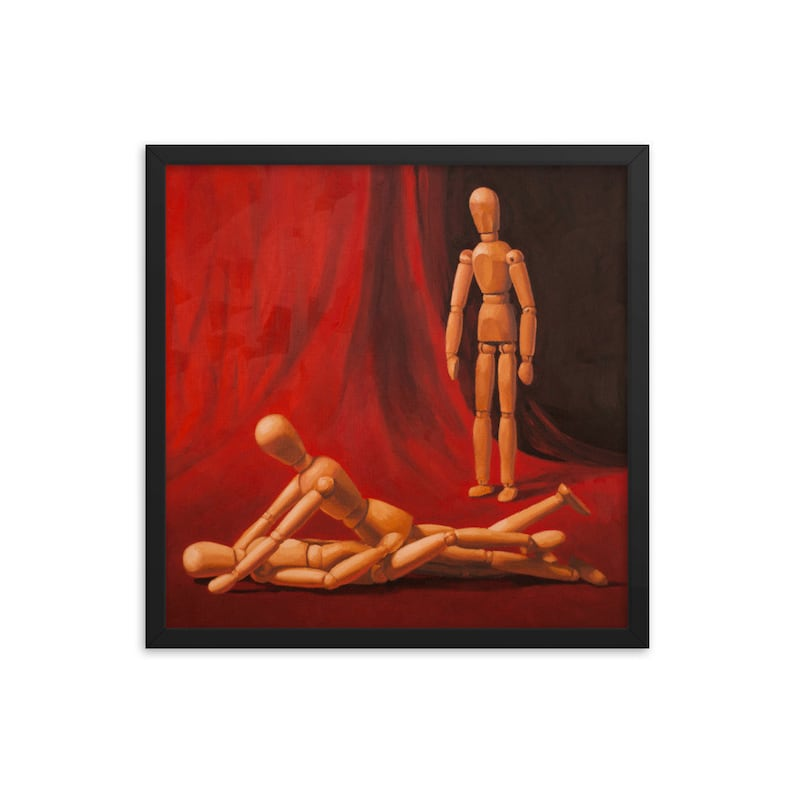 Mannequin Polyamory Framed Art Print from oil painting  Ready image 0