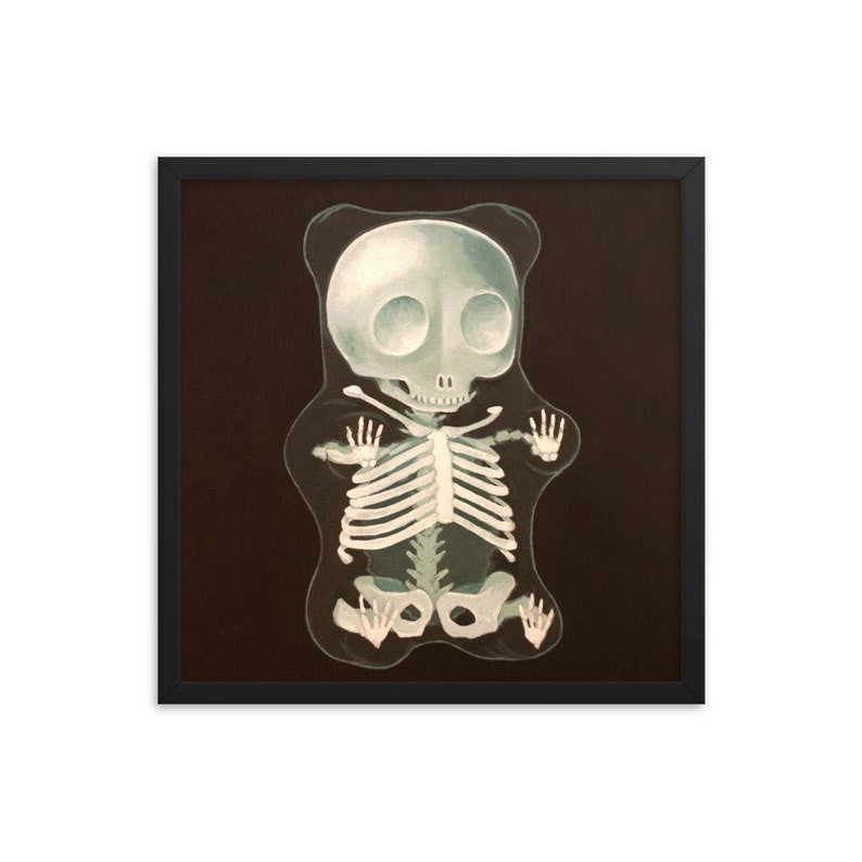 Gummy Bear X-Ray Framed Art Print from oil painting  ready to image 0