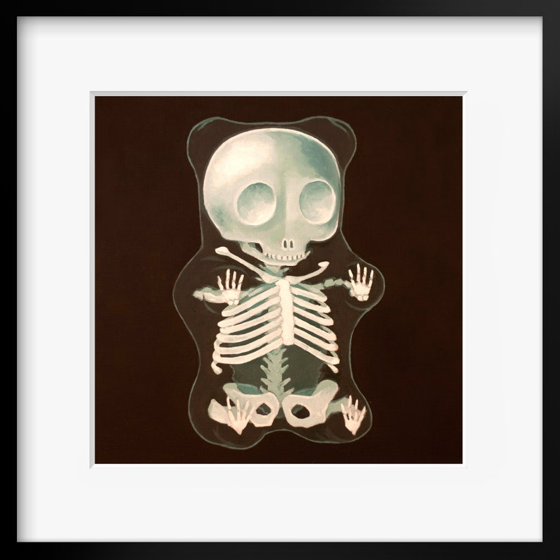 Gummy Bear X-Ray Art Print from oil painting  Creepy cute image 0