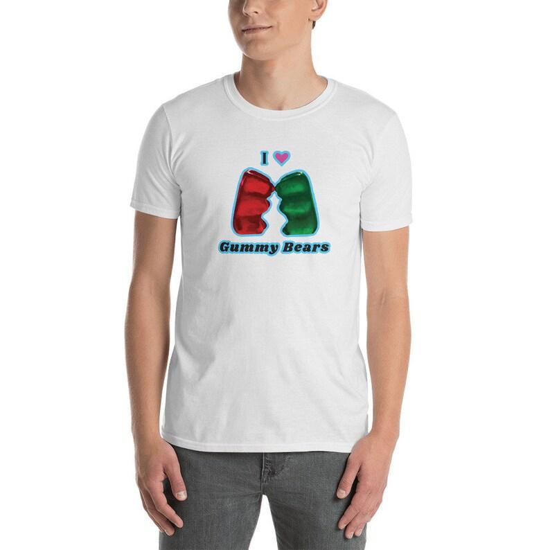 I Heart Gummy Bears  Short-Sleeve Unisex T-Shirt from image 0