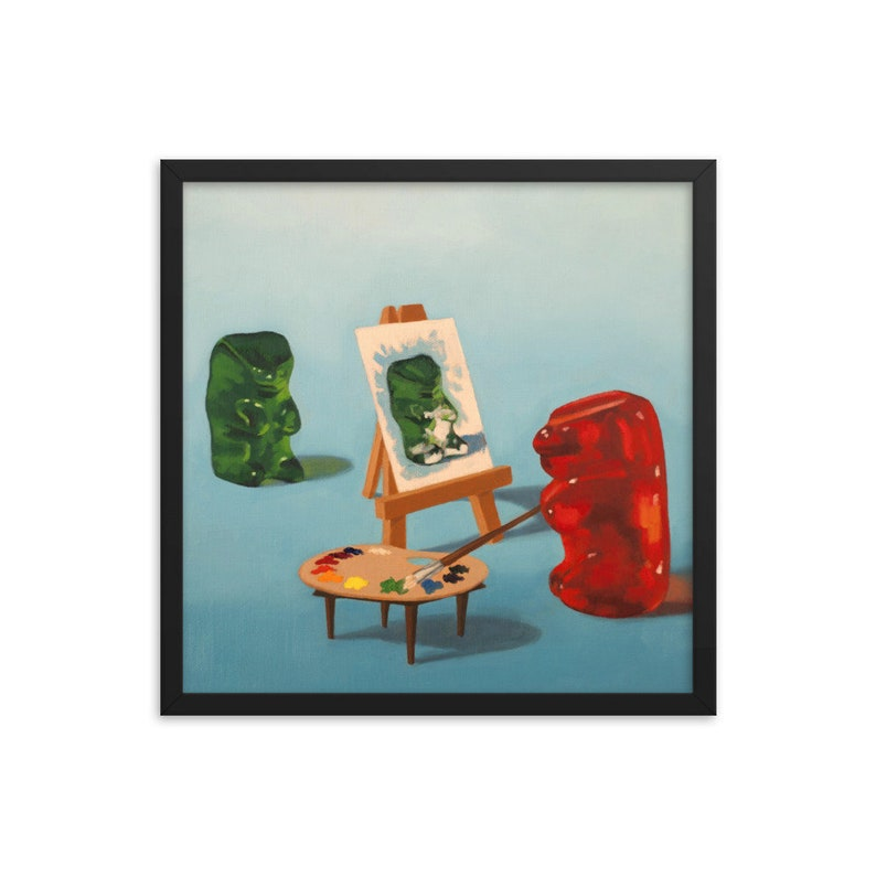 Gummy Bear Artist Framed Art Print from oil painting  ready image 0