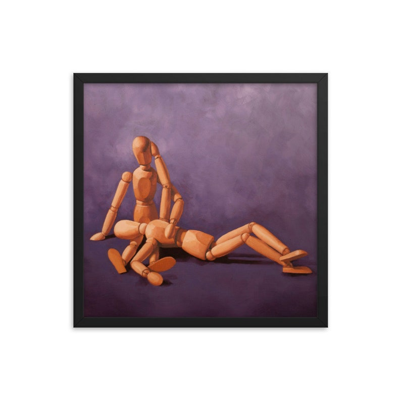 Mannequin 2 Year Anniversary Framed Art Print from oil image 0