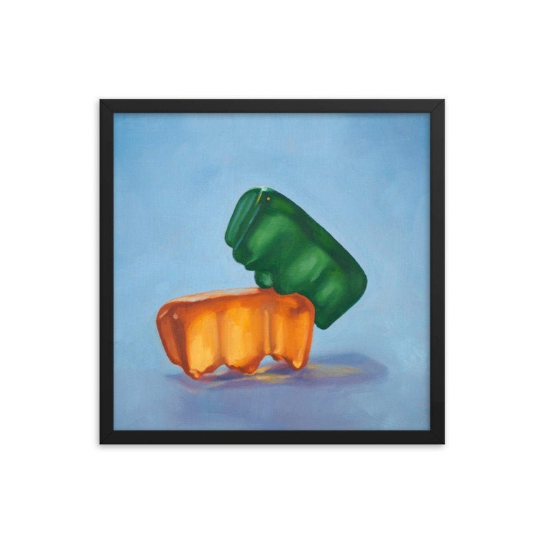 Gummy Bear Kinky Framed Art Print from oil painting  sex image 0