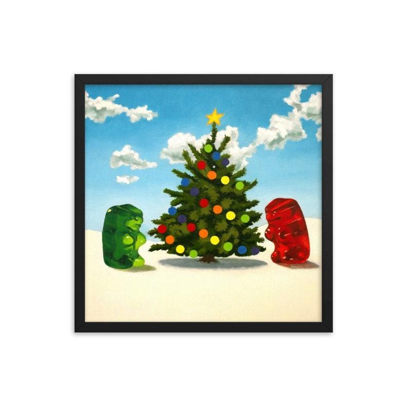 Gummy Bear Christmas Framed Art Print from oil painting  image 0