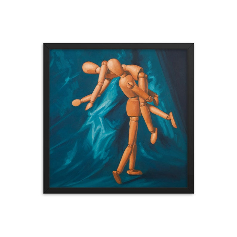 Mannequin Elope Framed Art Print from oil painting  Ready to image 0