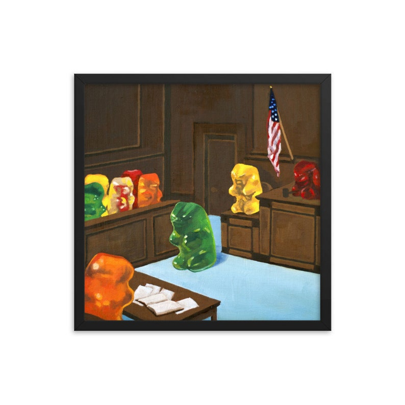 Gummy Bear Law And Order framed art print from oil painting  image 0