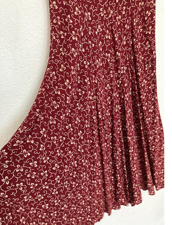 Vintage 90's does 40's maroon day dress - image 8