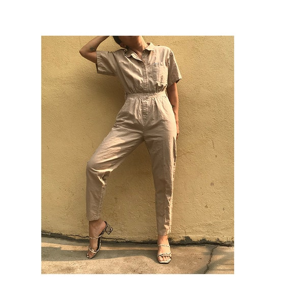 Vintage S/M 90's jumpsuit coveralls short sleeves