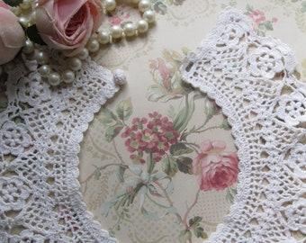 Crochet col, collier, collier victorien, accessoire Vintage, le travail manuel, Crochet Antique, par mailordervintage sur etsy