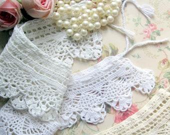 Trois colliers au Crochet, colliers au Crochet en vrac, colliers victorien, doublures de l'étagère, le travail manuel, fournitures de couture, de mailordervintage sur etsy