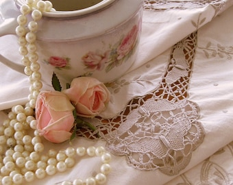 Grande nappe en dentelle, nappe en dentelle Battenburg, Garden Party nappe, décoration de mariage, Banquet Taablecloth, par mailordervintage sur etsy