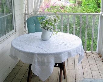 Vintage nappe ancienne pure, transparente carré nappe, nappe délicate, Français, mariage campagnard, par mailordervintage sur etsy