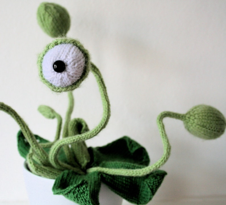 Knit your own cyclops pot plant pdf knitting pattern image 0