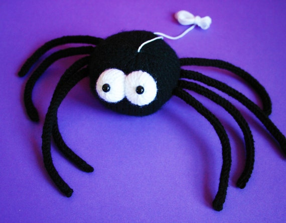 Knit Your Own Spooky Spider Pdf Knitting Pattern Etsy