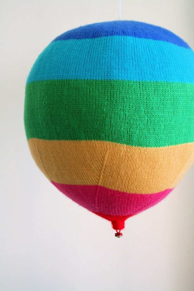Knit your own hot air balloons pdf knitting pattern image 0