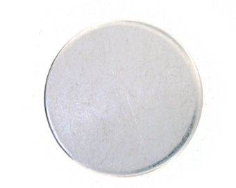 BEST PRICE Sale! 1.25 Inch 24 Gauge Sterling Silver Round Discs- Hand Stamping Supplies  1 1/4 inch Sterling Silver Disc