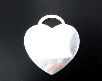 Sterling Silver Large Heart 20 Gauge - 2 PCS 22mm  (S001sphr20-bb)