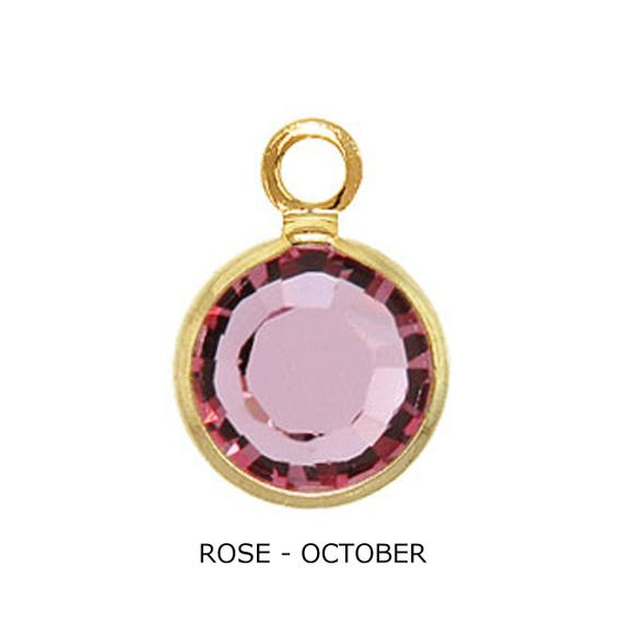 reliable reputation complimentary shipping best deals on 10 pcs of Gold Swarovski Crystal-New Low Price -Wholesale price! .49 cents  each! ROSE- OCTOBER
