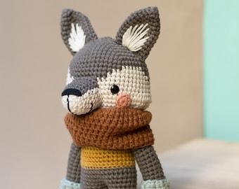 Pica Pau Amigurumi Crochet Toy Wolf Pattern. Harry Wolf