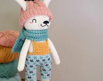 Pica Pau Amigurumi Crochet Toy Rabbit Pattern. Crispin Rabbit
