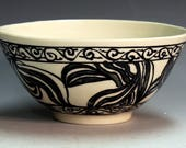 porcelain bowl, hand made hand painted aisian style decoration cereal bowl soup bowl, collector bowl