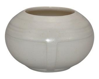 Roseville Pottery Ivory Tourmaline Art Deco Vase 236-3