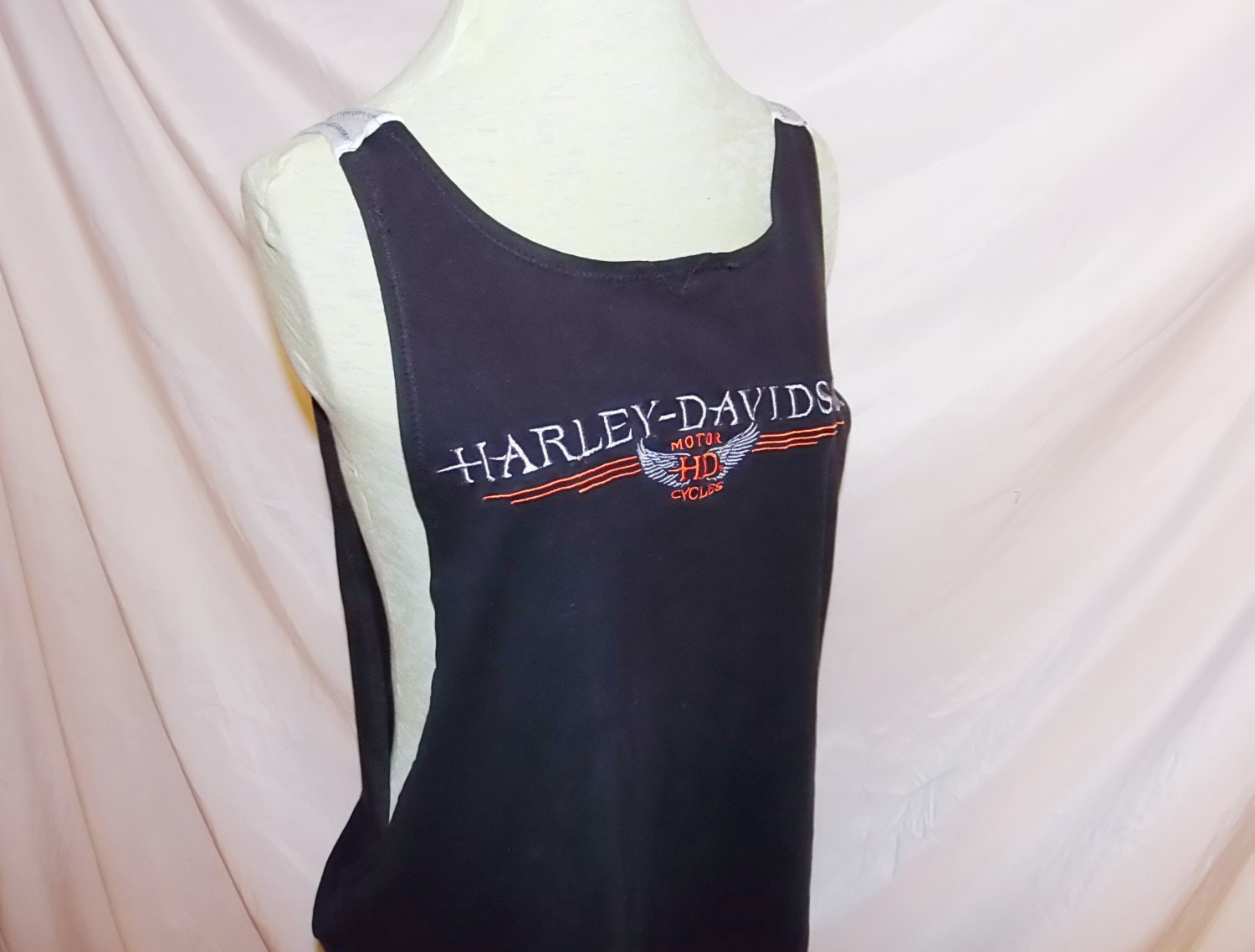 a7d790472a0f3e Work Out Tank Upcycled Vintage Harley Davidson T Shirt