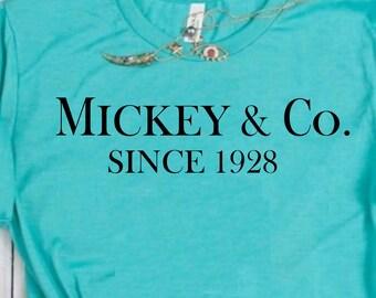 64667ea1f Mickey and Co. Since 1928, Women's Disney Shirt, Disney Shirt, Tiffany  Disney Shirt, Women's Disney Tee, Princess Disney Tee